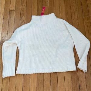 NWT size PM Catherine Malandrino white sweater